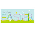 happy easter cute patterned typography graphic vector image vector image