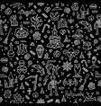 happy halloween doodle pattern vector image vector image
