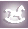 Horse toy icon Flat related icon vector image