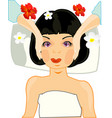 making look younger girl on massage of the person vector image vector image