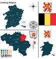 map of limburg belgium vector image vector image