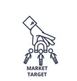 market target line icon concept market target vector image vector image