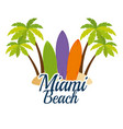 miami beach california scene vector image