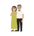middle-aged pair standing together flat vector image vector image