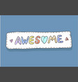 modern cute colorful fashion patch awesome on vector image vector image