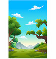 mountains and bright sky in morning vector image vector image