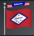 national flag of arkansas vector image