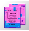 Night Party Club Invitation Card or Poster vector image