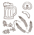Octoberfest cartoon beer design elements vector image vector image