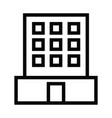 office building icon with outline style vector image vector image
