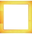 old riveted gold metal frame vector image