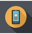 paper flat icon smartphone vector image