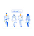 practitioner surgeon medical team clinic staff vector image