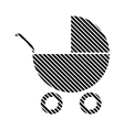 Pram sign on white vector image