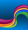 rainbow swirly background vector image vector image