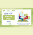 relaxation courses landing page template vector image vector image