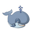 right whale icon cartoon style vector image