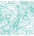 Seamless pattern with blue white stylized curls vector image
