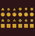 set icons celtic symbols with gems vector image vector image