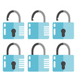 Set of Opened and Closed Locks vector image vector image
