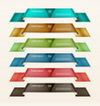 set of ribbons modern infographics options banner vector image vector image