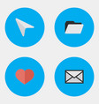 set of simple interface icons vector image