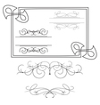 set of various curved elements vector image vector image