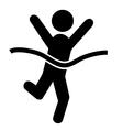 success people run man winner flat icons pictograp vector image vector image