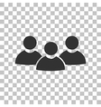 Team work sign Dark gray icon on transparent vector image vector image