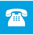 Telephone white icon vector image vector image