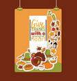 thanksgiving food traditional turkey on holiday vector image