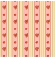 Vintage rose and stripes pattern for wallpaper vector image vector image