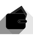 wallet sign black icon with vector image vector image