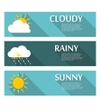 Weather Banners with Sun and Moon in Flat Style vector image vector image
