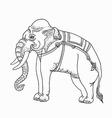 White elephanttraditional thai art vector image