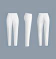 white womens pants realistic isolated vector image vector image