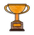 winner trophy flat vector image