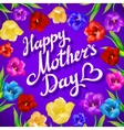 Gift card for mothers day with spring flower on vector image