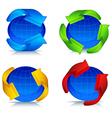 planet and arrow logo vector image