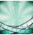 film background retro blue vector image