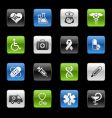 medicine and heath care icons vector image