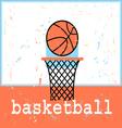 poster basketboll vector image