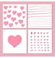 Collection of four cards templates vector image