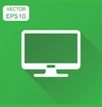 computer monitor icon business concept tv screen vector image