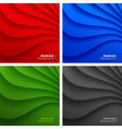 Set of Colorful Wavy backgrounds vector image
