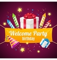 Welcome Birthday Card vector image