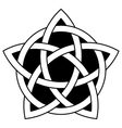 5-point Celtic star knot vector image vector image