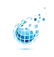 abstract globe icon business and communication vector image