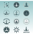 Anchor nautical symbols badges vector image vector image