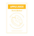 apple juice fresh and natural banner template with vector image vector image